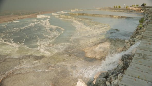 Cover Image for Pamukkale Mineral Hot Springs with Calcium Terraces, Turkey