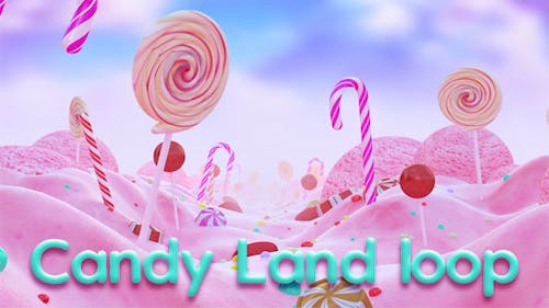 Candy Land Loop Background