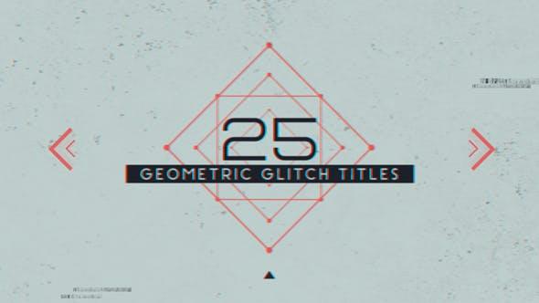 Thumbnail for 25 Geometrische Glitch-Titel