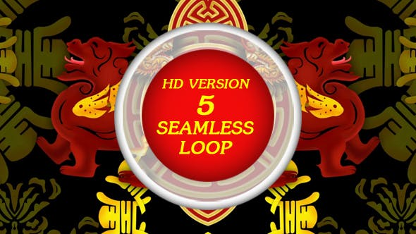Thumbnail for Lion Dance VJ Loop