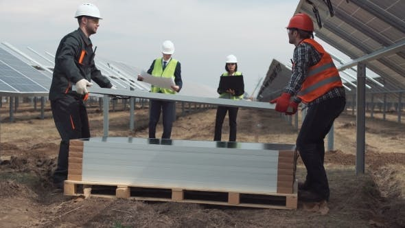 Thumbnail for Managers Looking at Solar Panels Mount