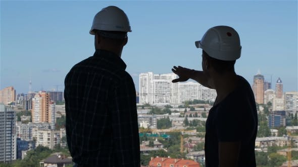 Thumbnail for Builder Points His Hand at the Complex of High Buildings