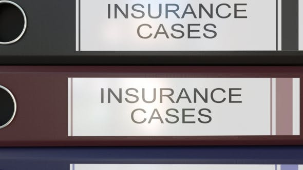 Thumbnail for Vertical Stack of Multicolor Office Binders with Insurance Cases Tags