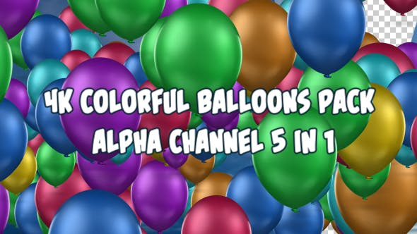 Thumbnail for 4K Colorful Balloons Pack 5 in 1