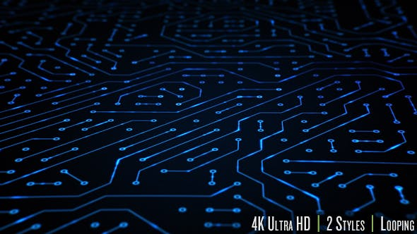 Circuit Board Closeup Loop 4K