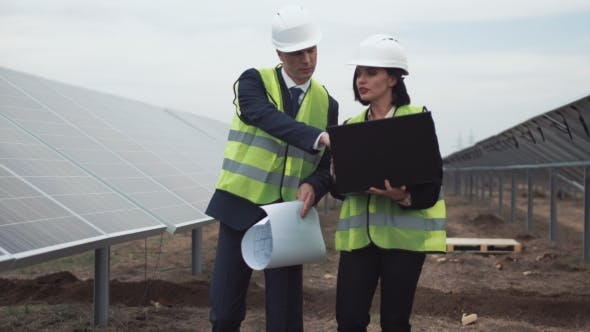 Thumbnail for Engineers on Solar Farm