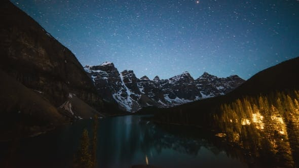 Thumbnail for Stars Above Moraine Lake on a Summer Night