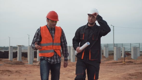 Thumbnail for Two Workers on the Building Site