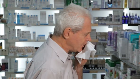 Thumbnail for Male Client Comes To the Drugstore with Cough
