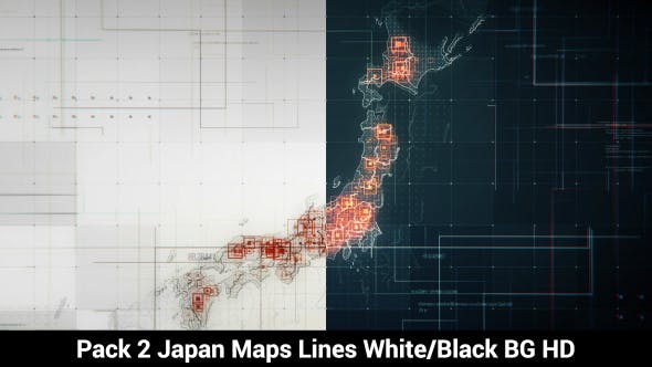 Thumbnail for Pack of 2 Japan Maps with Lines Rollback Camera HD