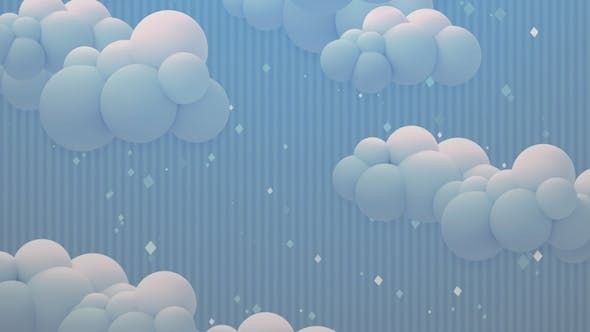 Cover Image for Cartoon Clouds At Night Background