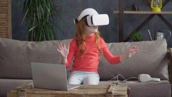 Thumbnail for Little Girl in VR Headset