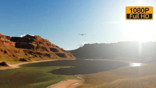 Thumbnail for Flying plane between the valley