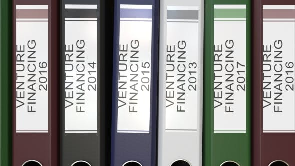 Thumbnail for Multiple Office Folders with Venture Financing Text Labels Different Years