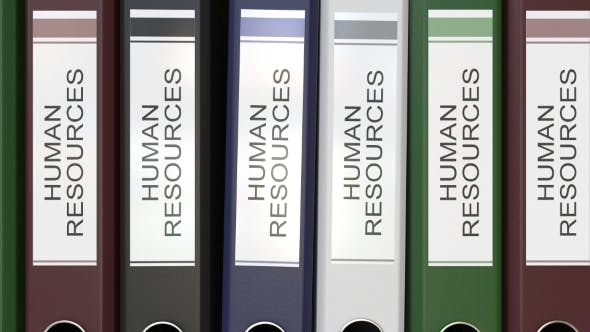 Thumbnail for Multiple Office Folders with Human Resources Text Labels