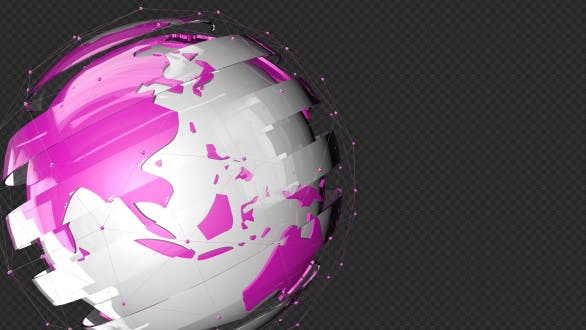 Thumbnail for Pink Tech Glass Earth Point Line Rotate