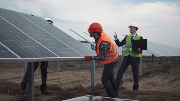 Thumbnail for Installation of Photovoltaic Panels on a Solar Farm
