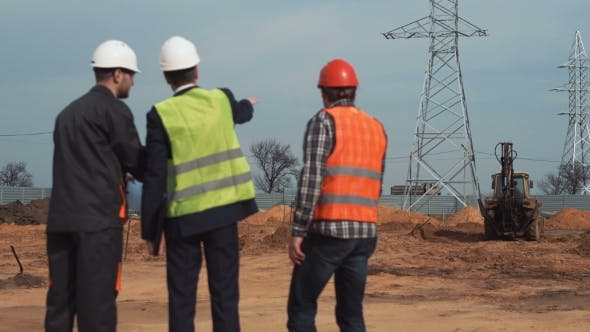 Thumbnail for Engineers and Workers on Site