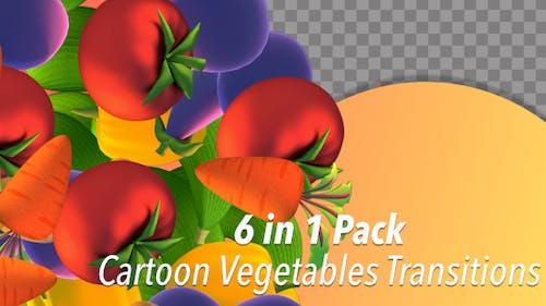 Cartoon Vegetables Transitions
