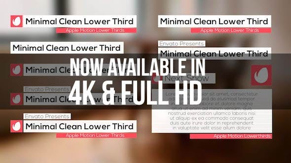 Thumbnail for Minimal Clean Lower Third