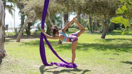 Beautiful Young Woman Acrobatic Dancer