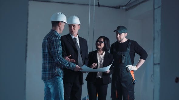 Thumbnail for The Architects and Engineers Discussing Blueprint