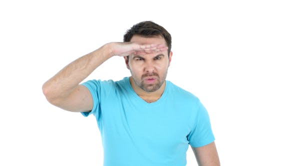 Thumbnail for Searching Middle Aged Man, White Background