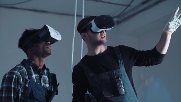 Thumbnail for Workers Using the VR Goggles