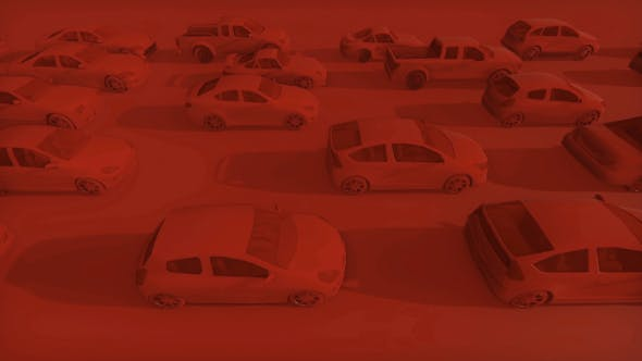 Thumbnail for 3D Red Vehicle Traffic
