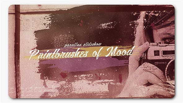 Thumbnail for Paint Brushes of Mood Parallax Slideshow
