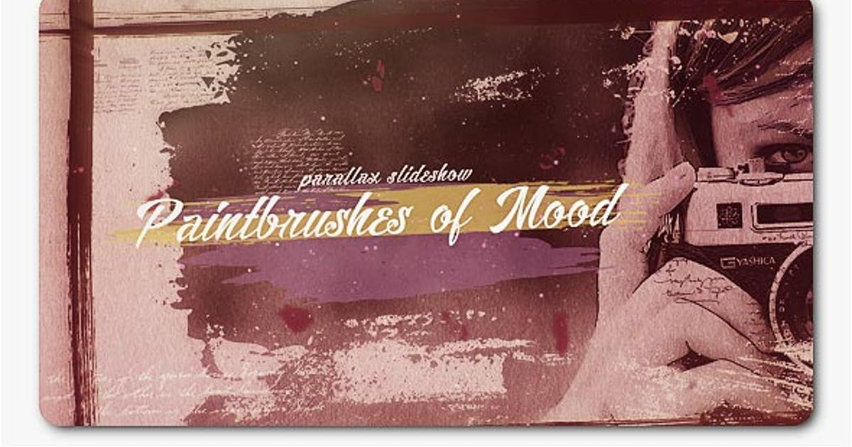 Paint Brushes of Mood Parallax Slideshow