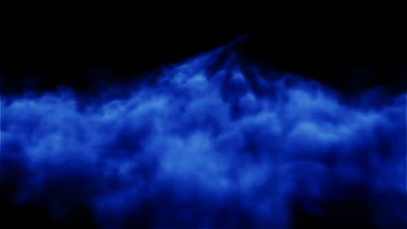 Volumetric Blue Smoke