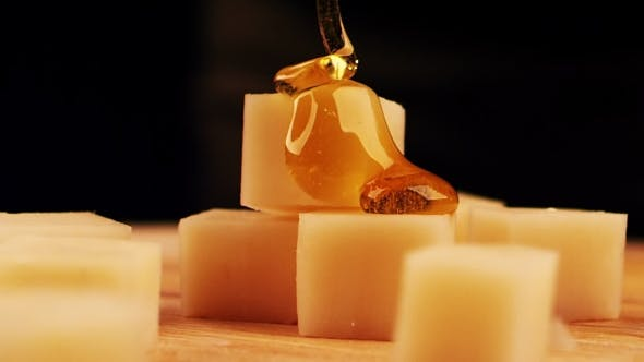 Thumbnail for The Pieces of Cheese Are Pouring Honey