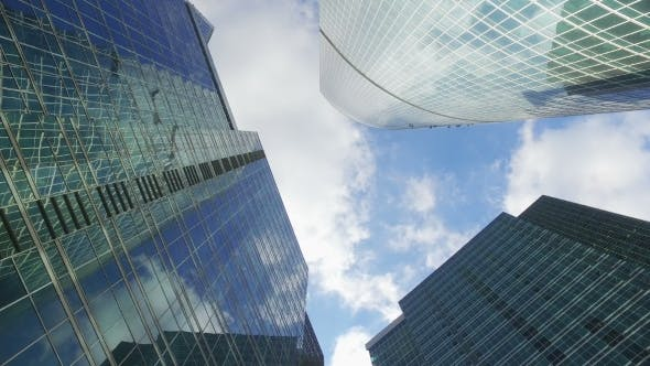 Thumbnail for Skyscrapers of the Business Center of the Big City Against