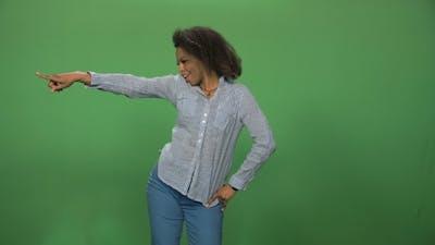 Black Woman Dancing on Green Screen