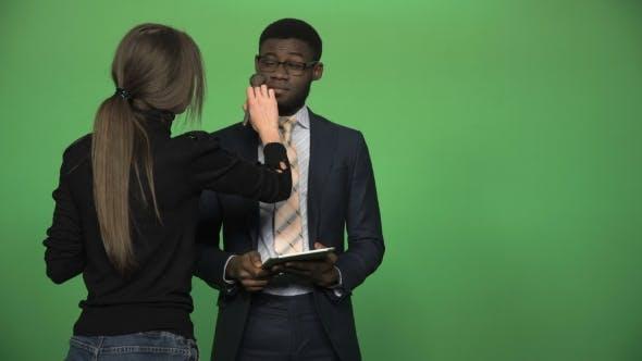 Black Man During Giving News