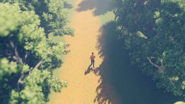 Thumbnail for Man Running In Forest