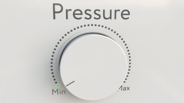 Thumbnail for Turning White Hi-tech Knob with Pressure Inscription From Minimum To Maximum