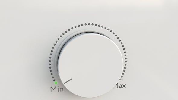 Thumbnail for Turning White Hi-tech Knob From Minimum To Maximum