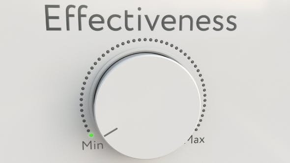 Thumbnail for Turning White Hi-tech Knob with Effectiveness Inscription From Minimum To Maximum