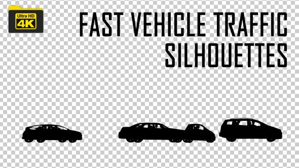 Fast Vehicle Traffic Silhouettes