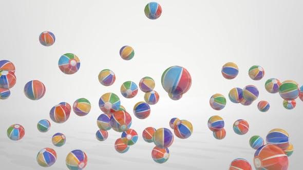 Thumbnail for Beach Balls Background