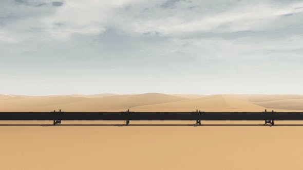 Thumbnail for Pipeline Oil Transportation And Desert - Aerial View