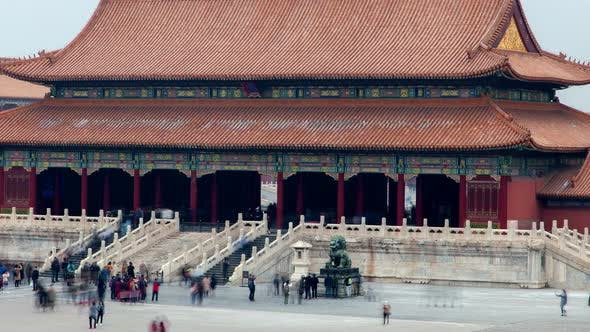 Thumbnail for Beijing Palace Complex of Forbidden City China Zoom Out