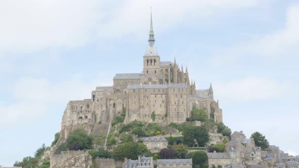 Thumbnail for Mont Saint Michel  island and cathedral in Normandy France 4K 3840X2160 UHD video - Mt Saint Michel