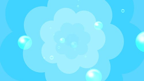 Cartoon Water Bubbles Background