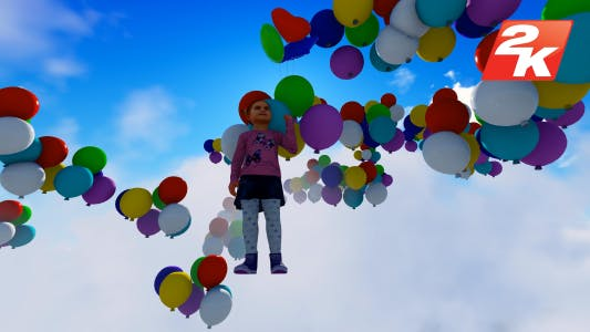Ballon und Kind