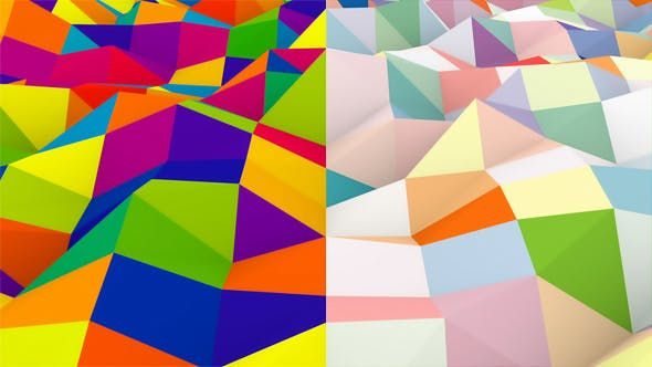 Thumbnail for Abstract Colorful Polygonal Background