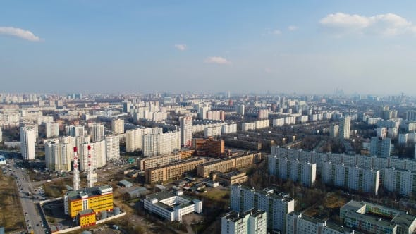 Moscow Suburb. The View From the Bird's Flight