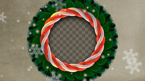 Sweet Candy Cane Weihnachtskranz